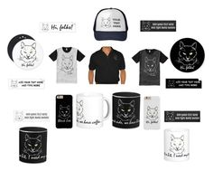 """""""Cat Black And Cat White"""" by polyart-466 ❤ liked on Polyvore featuring men's fashion and menswear"""
