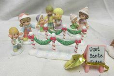 Precious Moments Hawthorne Village Christmas Set Visiting Santa's House