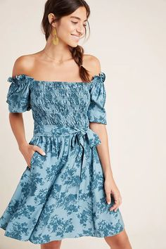 Gal Meets Glam Shiloh Off-The-Shoulder Mini Dress | Anthropologie Only Fashion, Fashion Over 50, Boho Fashion, Gal Meets Glam, Clothing Hacks, Women Sleeve, Unique Dresses, Dresses Online, Dresses Dresses