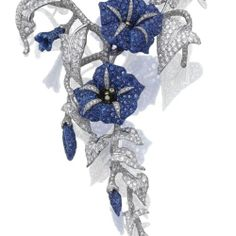 Sapphire and diamond 'Convolvolo' brooch, Michele Della Valle Celebrating Spring's Blooming Flowers | Jewels du Jour