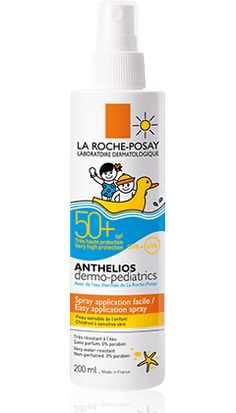 Anthelios Dermo-Pediatrics SPF 50+ Spray, Very high body protection. Ultra UVA (PPD 25).