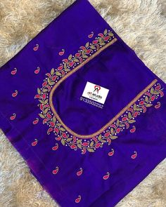 embroidery for beginners . Cutwork Blouse Designs, Patch Work Blouse Designs, Kids Blouse Designs, Wedding Saree Blouse Designs, Hand Work Blouse Design, Simple Blouse Designs, Stylish Blouse Design, Hand Designs, Simple Embroidery Designs