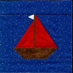 Sailboat foundation pattern from Quiltaholics