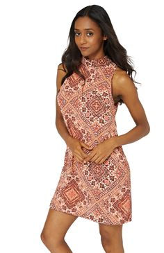 Abstract Print Sleeveless Sun Dress Key Features Include: - Choker Neck - Sleeveless - Relaxed Fit - Back Zip Up Material: - Polyester Measurements: - Mode Fit Back, Neck Choker, Fashion Group, Abstract Print, Couture Fashion, Zip Ups, High Neck Dress, Fancy, Sun
