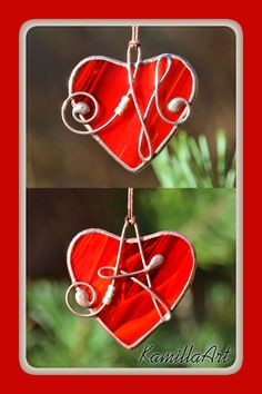 Personalized stained glass heart