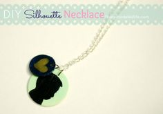 DIY Silhouette Necklace #handmademothersday #diy #craft #silhouette