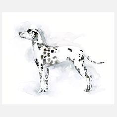 Fab.com | Dalmatian Silhouette 10x8