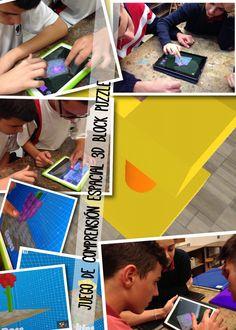 #construcción en 3D #app #iPads 3D Block Puzzle en cuarto de la #ESO @RealejosNazaret jugamos en parejas #coopertición entrenamos la comprensión espacial pasando de nivel y recreando las figuras en...