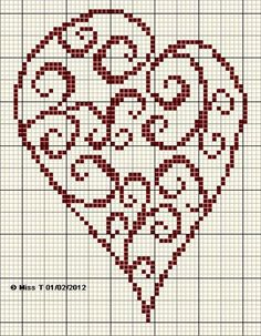 cross stitch freebie.. quick for valentines
