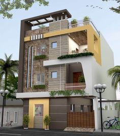 Colour Combination for House Exterior Painting 8 Ideas You'll Love! is part of Indian house exterior design - In this post, we showcase 8 colour combination for house exterior painting that will inspire you to give your home a muchneeded uplift Indian House Exterior Design, Modern Exterior House Designs, Modern House Plans, Modern House Design, Modern House Facades, Home Design, Bungalow Haus Design, Duplex House Design, House Front Design