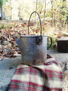 Old Aluminum Coffee Pot- Camping Coffee Pot- Well Used Old Camp Stove Coffee Pot-Aged Metal Brew Pot-Vintage Camping-Stove Top Camping- Prop by OrphanedTreasure on Etsy