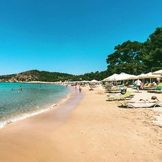 Beautiful Rosogremos Beach! Thassos Thasos, The Beach, Greece Islands, To Go, September, Holiday, Instagram Posts, Nature, Summer