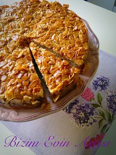Easy Cake : Chef of our house: Honey and almond cake, Cake Pineapple, Cake Wallpaper, Honey Almonds, Pudding Cake, Almond Cakes, Turkish Recipes, Easy Cake Recipes, Macaroni And Cheese, Food And Drink