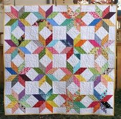 Half-Square Triangle Sampler Quilt PDF Pattern / Jeni Baker Patterns