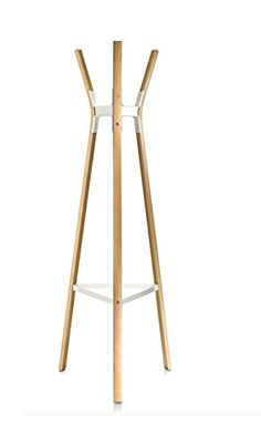Steelwood Coat Stand beech, white/lacquered by WOONIO UK