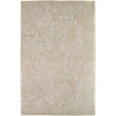 Raj Collection New Zealand Wool Area Rug in Safari Tan and Winter White design by Surya