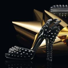 @Gucci Yulia black suede high-heel sandal with crystal studs