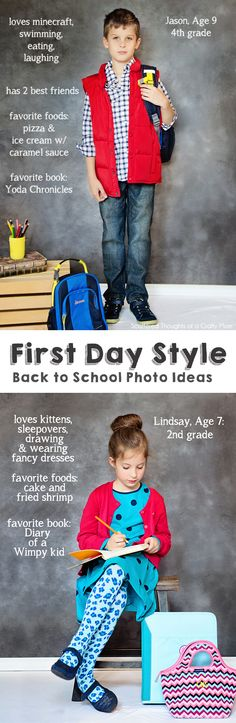 Back to School photo ideas. #backtoschool #firstdayphotos