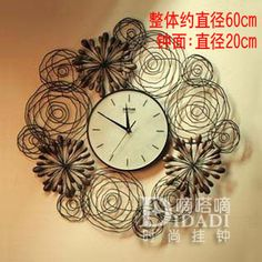 Aliexpress.com : Buy Drow season wrought iron wall clock circle art watch chrysanthemum personalized fashion wall clock home decoration from Reliable clock movement suppliers on Angel Tears  lighting Co.,Ltd.. $69.83