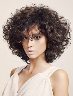 High Fashion Fluffy Mid-length Curly Full Lace Human Hair Wig