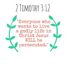 Persecuted for Christ