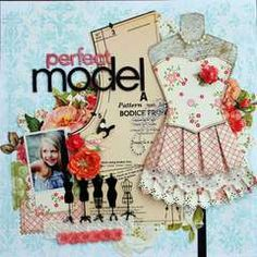 love this page . . . i've got to try this.  i love how she used the pattern and put a dress onto the dress form!