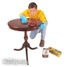 Repair nicks, scratches, dings and dents in your wood furniture with just a few minutes' work! This article shows you how: