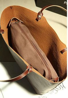 Brown Leather Tote Bag Women Leather Bag Women by canvasleatherbag