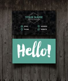 Hello Business Cards | Youth Ministry Media Store