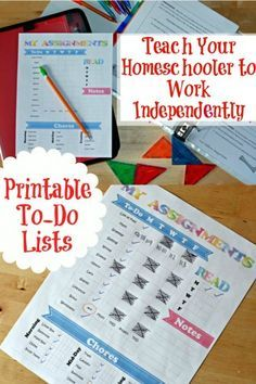 How To Teach Your Homeschooler To Work Independently – this is a an awesome post on creating a binder with all the school work with an organized to do list!