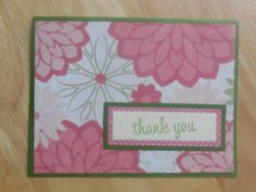 Pink Petals Thank You Card