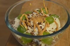 Jurnal de Dieta: Ziua 37: Mic dejun Coco, Grains, Pudding, Banana, Desserts, Tailgate Desserts, Deserts, Custard Pudding, Puddings