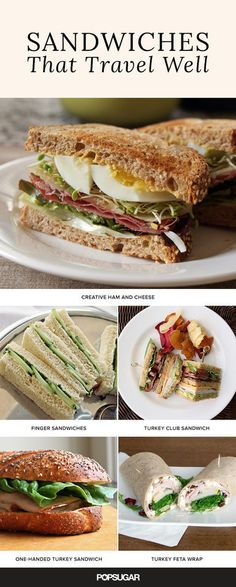 When you're on the go, there's no time for a messy meal. These not-so-average sandwiches aren't just delicious, but they also travel well. Pack your bags because this lunch inspiration is ready for wherever life takes you! Cold Lunches, Picnic Lunches, Picnic Foods, Lunch Snacks, Food For Picnic, Healthy Travel Snacks, Picnic Lunch Ideas, Travel Lunches, Picnic Menu