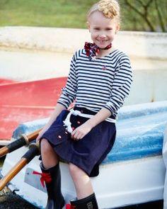 Babyfløjl og sailor striber   - stof2000.dk