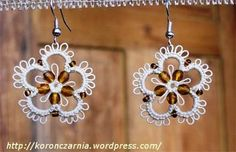 Mekik Oyasından Takı / Tatted Jewellery: ÇİÇEK KÜPELER / FLOWER EARRINGS