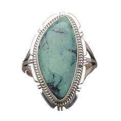 Bague Navajo turquoise et argent | Harpo Paris #bijouxamérindiens #bagueturquoise #navajo