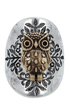 Bohemian Forest Owl Fashion Ring