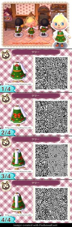 ツリーChristmas dress QR codes