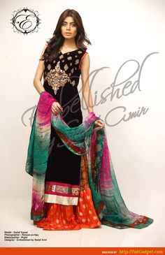 Embellished formal wear dresses 2013 by Sadaf Amir have recently launched.These dresses are looking beautiful in embellishments of embroidery. Dresses 2013, Formal Dresses, Pakistani Outfits, Fashion News, Fashion Trends, Asian Fashion, Formal Wear, Designer Dresses, My Style