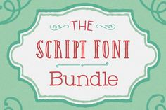 EXCLUSIVE Script Font Bundle: 10 Gorgeous Fonts - only $27!