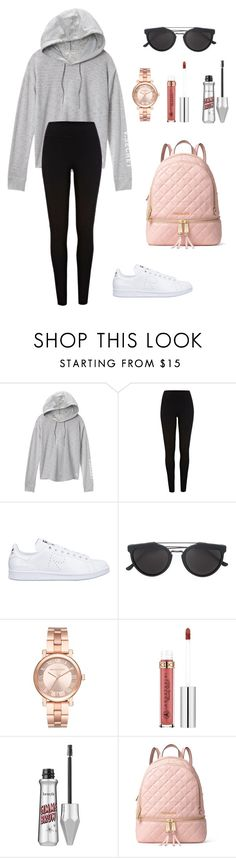 """Untitled #250"" by itsamandarose on Polyvore featuring Victoria's Secret, River Island, adidas, RetroSuperFuture, Michael Kors, Anastasia Beverly Hills, Benefit and MICHAEL Michael Kors"