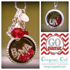 orgami owl Show your team spirit with Origami Owl Visit alishahammack.ori... to choose your design one for your favorite team today