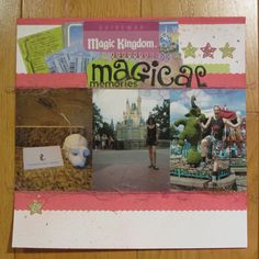 Inspired by some Shimelle Laine prompts. My Scrapbook, Magic Kingdom, Prompts, Memories, Baseball Cards, Inspired, Inspiration, Wool, Souvenirs