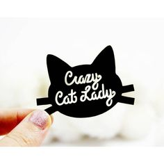 I Love Crafty 'Crazy Cat Lady' Brooch ($17) ❤ liked on Polyvore featuring jewelry, brooches, laser cut jewelry, i love jewelry, lucite jewelry, acrylic jewelry and cat jewelry