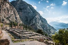 View From the Ancient Temple of Delphi, Greece