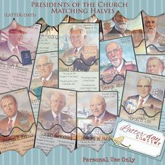 Latter-Day Chatter: {Sunday Box} Presidents of the Church Matching Halves