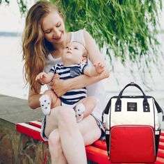 👶  Our hands-free backpack style baby bags have more than 10 spacious pockets to store diapers, wipes, ointments, changing pad, changes of clothes, small blanket, bottles, sippy cup and/or snacks for mum and bubs, wallet, keys, toys and much more.