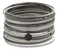 Pin to Win #SusanGraver Sweepstakes! {Two-Tone Bangle Bracelets} Enter here: http://sweeps.pinfluencer.com/QVC