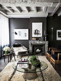 Trouvailles Pinterest: Mur noir Crédit: Romain Ricard