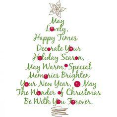 mooi engels gedicht - Kerstboom muursticker. Da's weer eens wat anders.